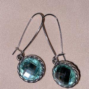 Swarovski silver drop earrings.